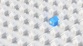 Blaues und weißes Haus Lizenzfreie Stockfotos
