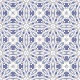 Blaues und weißes nahtloses Muster Stockfotos