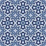 Blaues und weißes nahtloses Muster Lizenzfreie Stockfotos