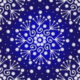 Blaues und weißes nahtloses Punkt-zu-Punktmuster Stockfoto