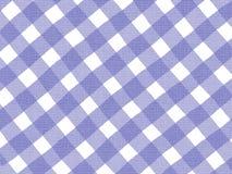 Blaues und weißes Plaidmuster auf Leinengewebe Lizenzfreies Stockfoto