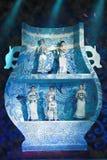 blaues und weißes Porzellan Stockfotos