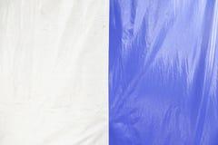 Blaues und weißes Segeltuch Lizenzfreie Stockfotografie