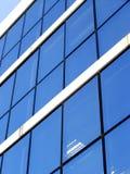 Blaues Unternehmensgebäude lizenzfreies stockbild