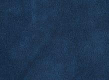 Blaues Veloursleder Lizenzfreies Stockbild
