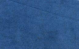 Blaues Veloursleder Stockbilder