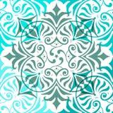 Blaues Verzierungs-Zusammenfassungs-Muster nahtlos Lizenzfreies Stockfoto
