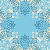 Blaues Verzierungs-Zusammenfassungs-Muster nahtlos Stockfotografie