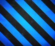 Blaues WARNING Stripes Hintergrund stock abbildung