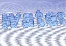 Blaues Wasser,   stock abbildung