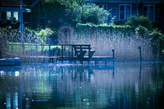 Blaues Wasser Stockfotografie