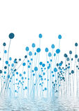 Blaues Wasser-Flora Lizenzfreies Stockbild