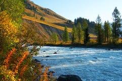 Blaues Wasser im Fluss. Lizenzfreies Stockfoto