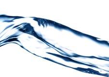 Blaues Wasserstrahl, spritzend Stockfotografie