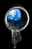 Blaues waterpipe Lizenzfreies Stockfoto