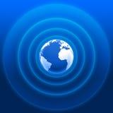 Blaues Weiß 01 der Weltradarwellen Stockfotos
