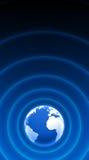 Blaues Weiß 04 der Weltradarwellen Stockfoto