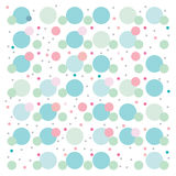 Blaues Weiß des Punkttapetenhintergrundmuster-Rosas Lizenzfreie Stockfotografie
