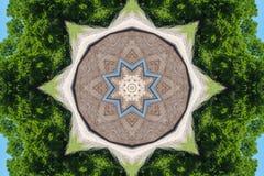 Blaues weißes Braun Gree Stockbild