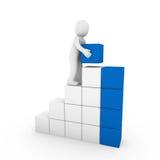 blaues Weiß des menschlichen Kontrollturms des Würfels 3d Lizenzfreie Stockfotos