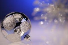 Blaues Weihnachten Lizenzfreies Stockfoto