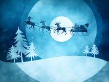 Blaues Weihnachten Stockfoto