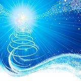 Blaues Weihnachten vektor abbildung