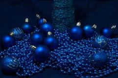 Blaues Weihnachten Lizenzfreies Stockbild