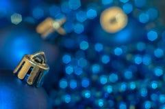 Blaues Weihnachten Stockbild