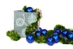 Blaues Weihnachten Stockfotografie