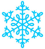 Blaues Weihnachten der Schneeflocke Stockfotos