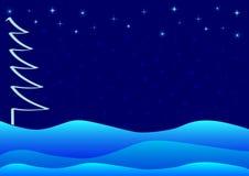 Blaues Weihnachts- oder Winterthema Stockbild