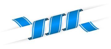 Blaues Weihnachtsverdrehtes Band Lizenzfreies Stockbild