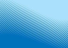 Blaues Wellenhalbtonmuster Stockfoto