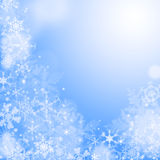 Blaues Winter wallaper Lizenzfreie Stockfotos