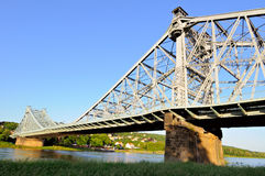 Blaues Wunder bridge in Dresden Royalty Free Stock Images