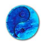 Blaues Yin Yang Stockbild