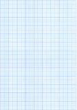 Blaues Zeichenpapier mit Maßeinteilung Lizenzfreies Stockfoto