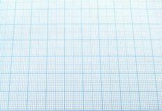 Blaues Zeichenpapier mit Maßeinteilung Stockfoto