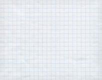 Blaues Zeichenpapier mit Maßeinteilung auf weißem Hintergrund Lizenzfreies Stockfoto