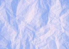 Blaues zerknittert Papier des Hintergrundes Stockfotografie