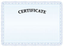 Blaues Zertifikatabsolventdiplom Lizenzfreie Stockbilder