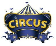 Blaues Zirkuszeichen stock abbildung