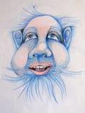 Blaues zwergartiges Portrait Stockbilder