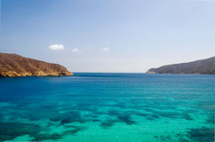 Blaufisch Gordo-Strandlandschaft Lizenzfreies Stockfoto