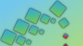 Blaugrüne Ziegelsteine auf Steigungshintergrund vektor abbildung