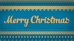 Blauhintergrund der frohen Weihnachten Stockfoto