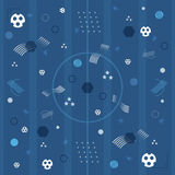 Blauhintergrund der Fußballeuropameisterschaft 2016 Stockfoto