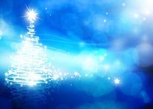 Blauhintergrund der Kunst abstrakter Weihnachts Lizenzfreie Stockbilder