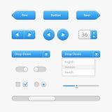 Blaulicht-Benutzerschnittstellen-Kontrollen Abstrat Abbildung Website, Software UI stock abbildung